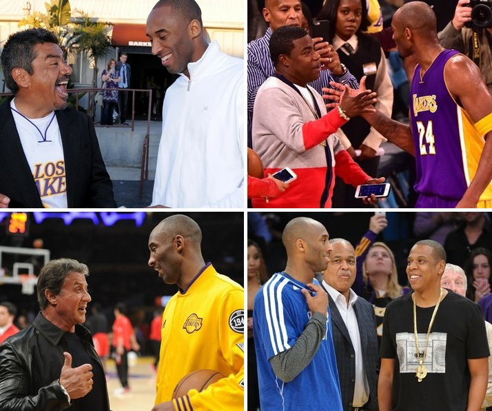 Check out our game-time gallery to see celebs courtside posing with @KobeBryant