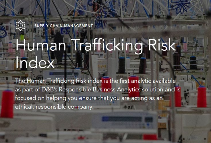 NEW: Our Human Trafficking Risk (HTR) Index helps your business identify #humantrafficking https://t.co/Hs1vwXNL9K https://t.co/TzDYpWHs3i