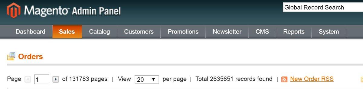 KBortnick: 50 hour #MagentoImagine @Clustrix demo is complete: ~2.6M orders, 147M page hits, 14.6 orders/sec, 0% error rate https://t.co/G3IR2JET4H