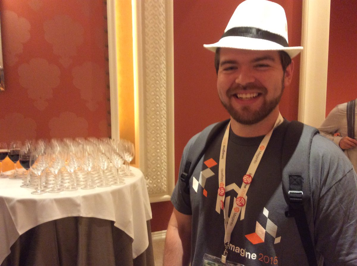 magento: We spotted Daniel heading into BarCamp still rocking his fedora from last night's Legendary Event #MagentoImagine https://t.co/eUvByIb6iq