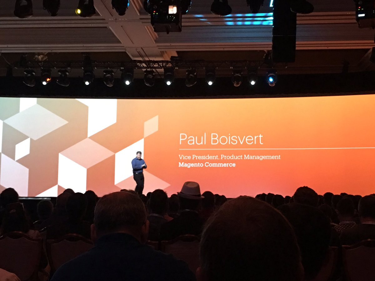ebizmarts: The great and only @ProductPaul hits the stage, will he drop the mic this time? We'll see :) #MagentoImagine https://t.co/YKr0v68e0e