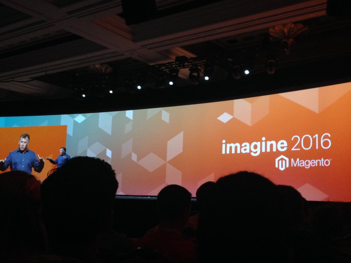 SheroDesigns: @ProductPaul Getting started! Excited to see what's coming up! #magento2 #MagentoImagine https://t.co/uzFw94ENY7