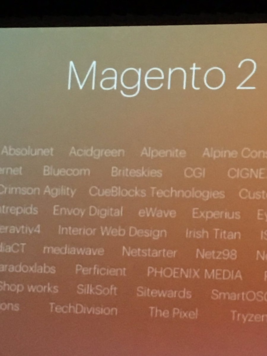 kab8609: @nobrowncow @GianniG you guys were mentioned. #MagentoImagine https://t.co/aO9UtAUJnK