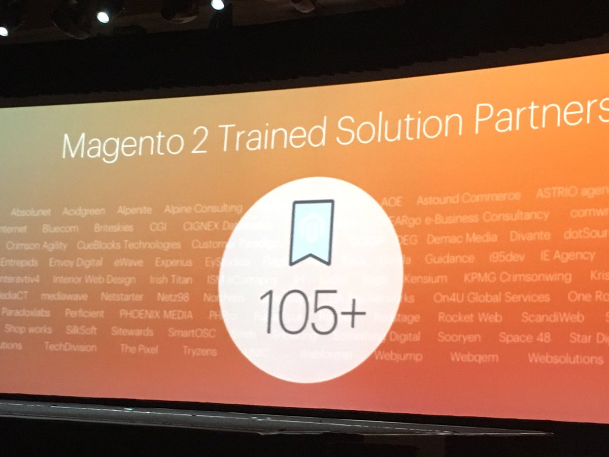 phoenix_medien: Proud to be named as a #Magento2 Trained Solution Partner #MagentoImagine https://t.co/sQHcCy3he0