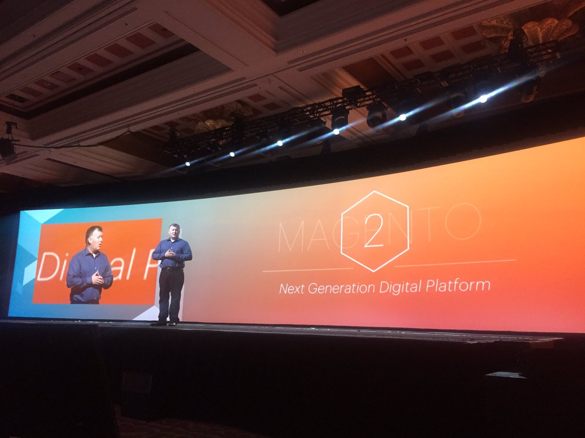 vaimoglobal: Paul Boisvert talks Magento 2 - 800 sites live on M 2.0 already @ProductPaul @magentoimagine https://t.co/LbR9kA2qKU