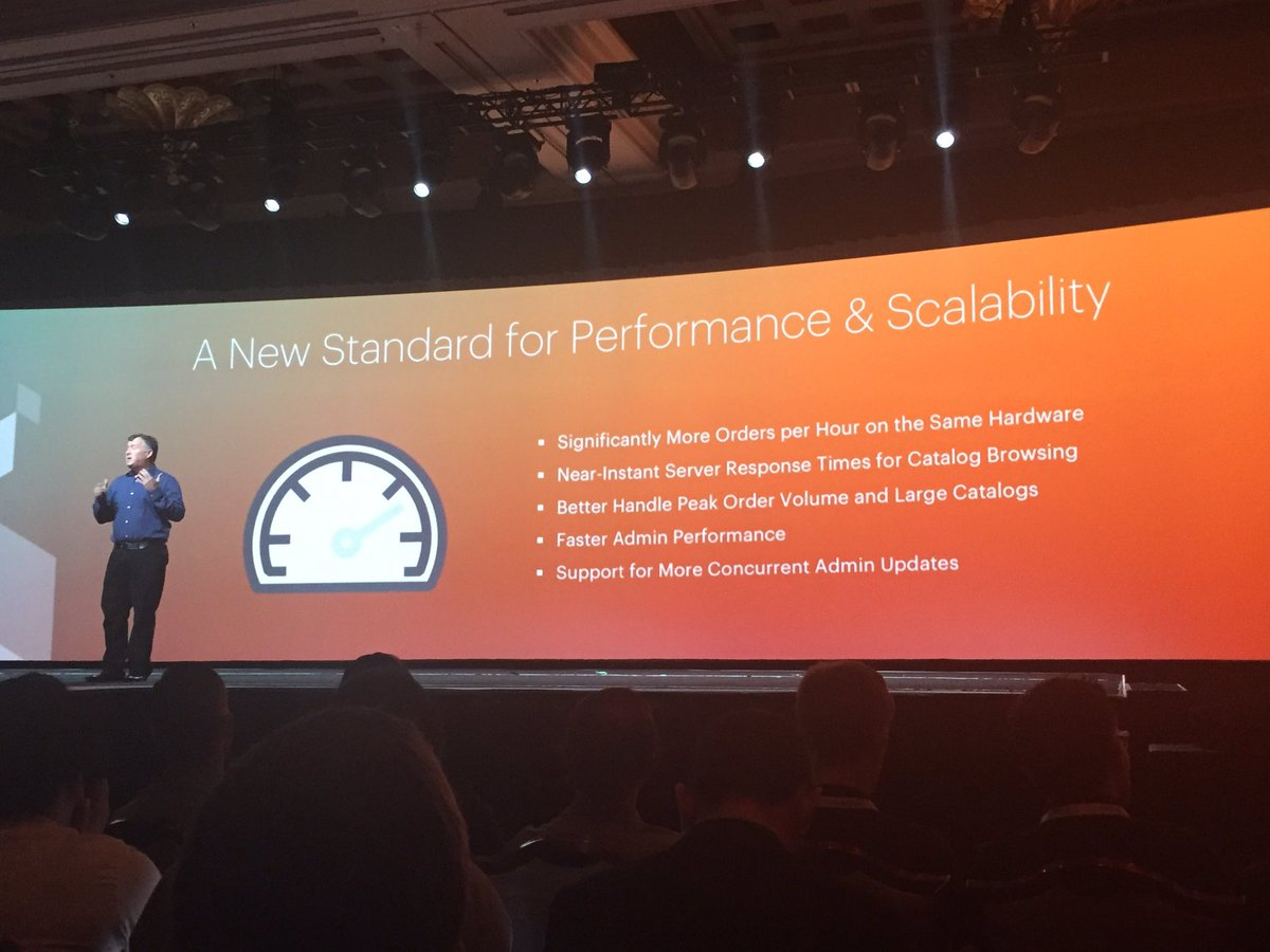 ignacioriesco: Performance is key benefit when using Magento2 as your solution for Commerce #MagentoImagine @ProductPaul https://t.co/y1dSgzIbFE