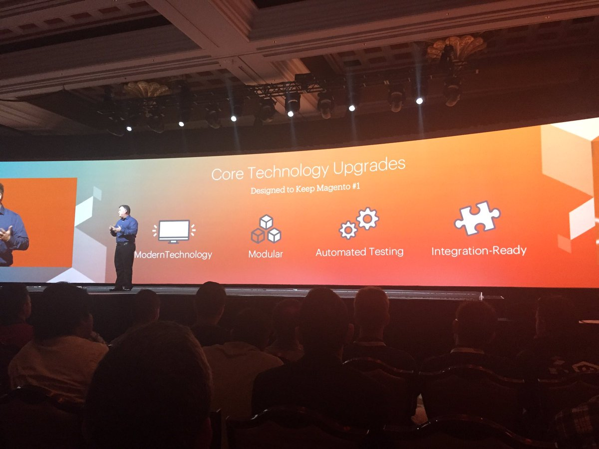 ignacioriesco: Core technology updates in Magento 2. #MagentoImagine https://t.co/iYVL63ajsc