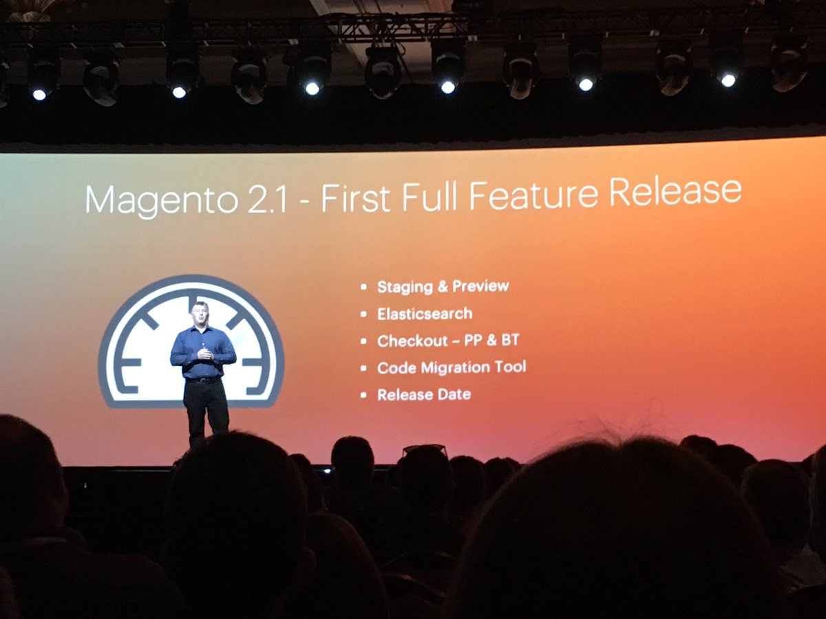 alexanderdamm: Magento 2.1 announced #MagentoImagine https://t.co/cUK3dOIW6m