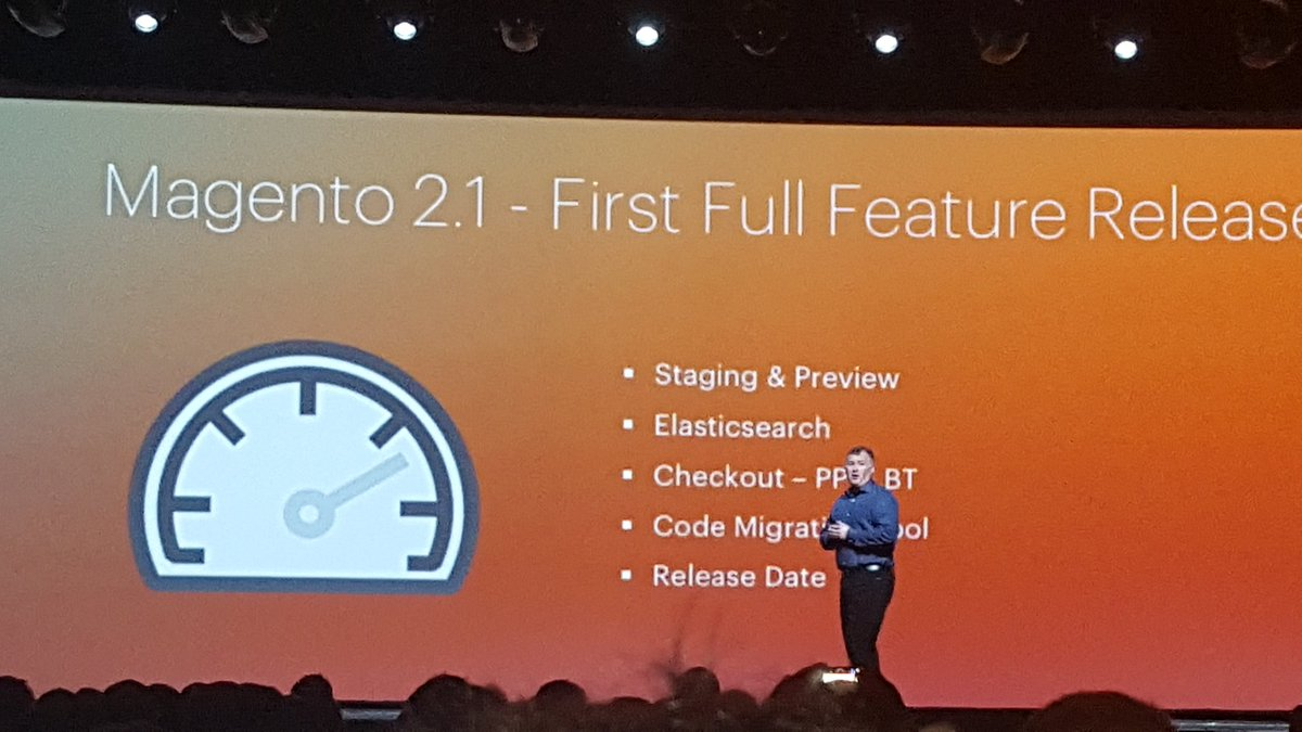 betz826: Magento 2.1 release just announced at #MagentoImagine https://t.co/aEwENtxBhT