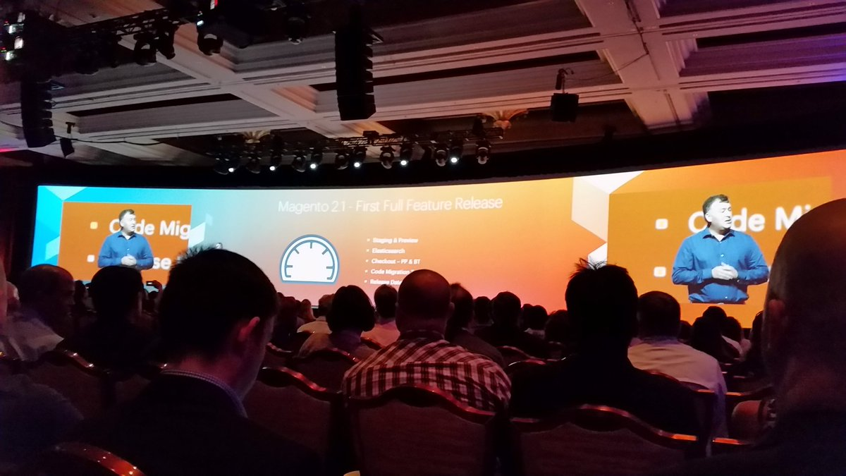 tig_nl: Magento 2.1 announced in june 2016 #ImagineCommerce #imagine2016 https://t.co/eaXYwN09OM