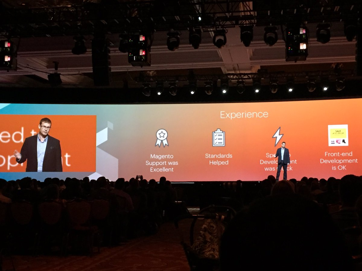 magento_rich: Steven King: Support was excellent. @KurtGeiger #MagentoImagine https://t.co/nTuflC2jTU