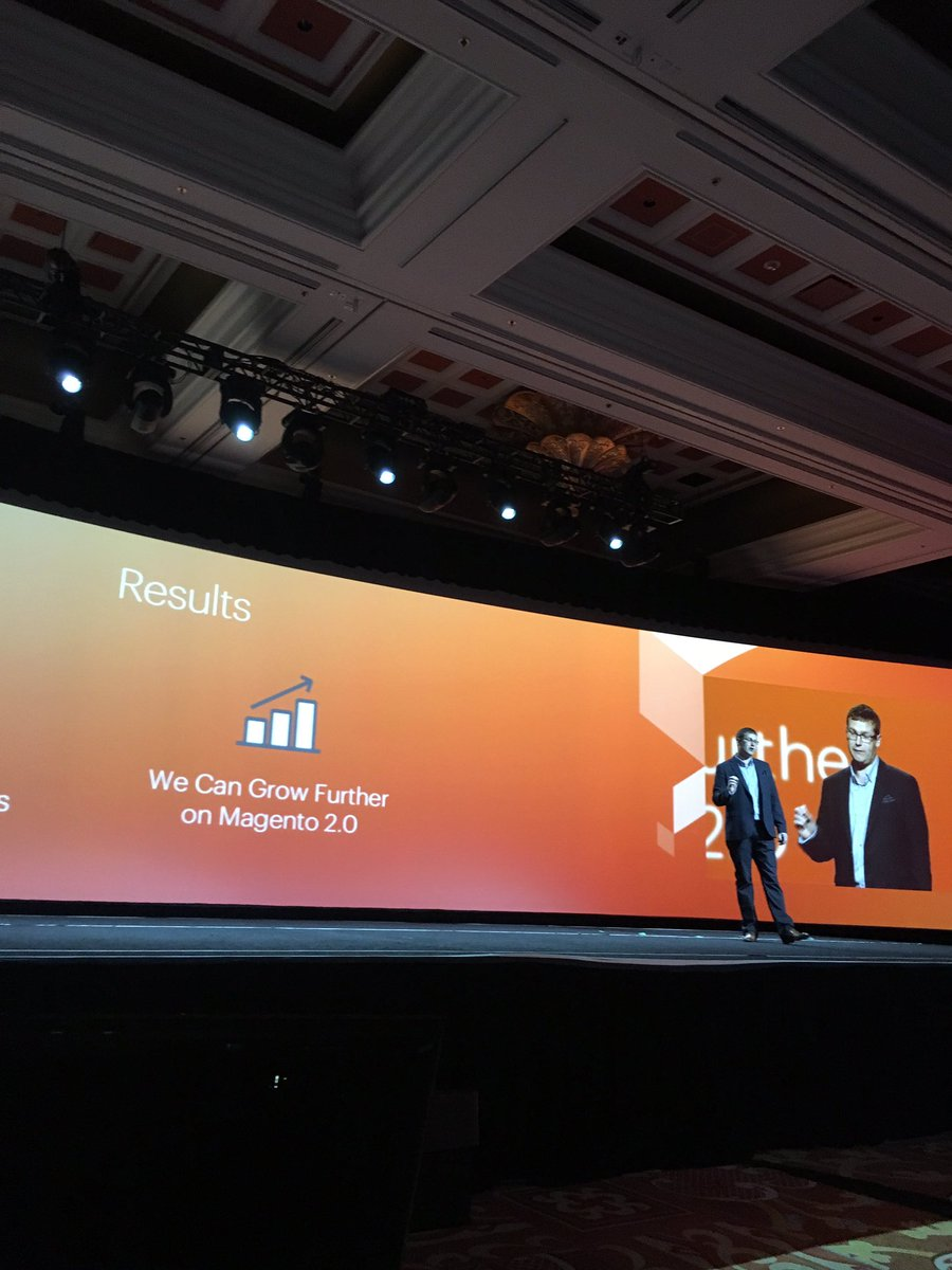 mklave1: 'We can grow faster on Magento2' @KurtGeiger #magento #MagentoImagine https://t.co/X6297LR6K6