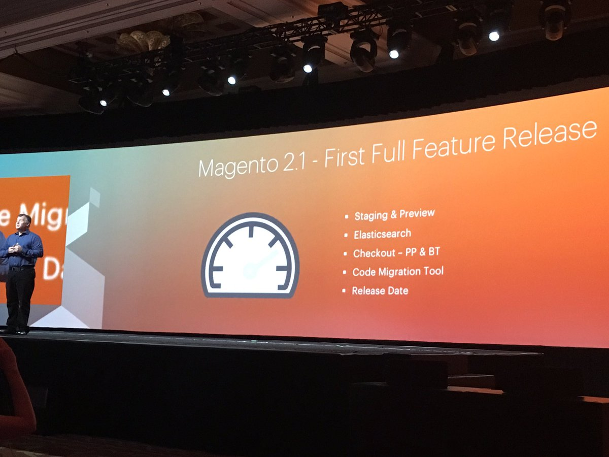phoenix_medien: #Magento 2.1 announcement available in June #MagentoImagine https://t.co/m56Zm8C7Ae