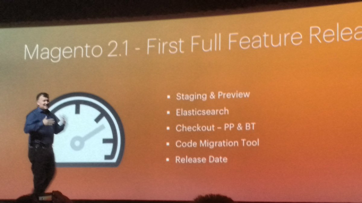 avstudnitz: Upcoming Magento 2.1 release announced by @ProductPaul #MagentoImagine https://t.co/JNZLe6gy70