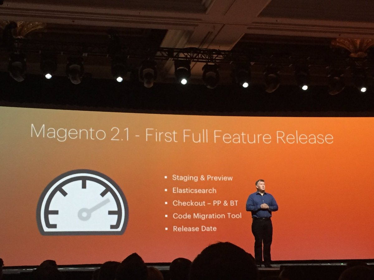plumrocket: #magento just announced new Magento 2.1 to be released in June. #MagentoImagine https://t.co/OY29OYFGO2
