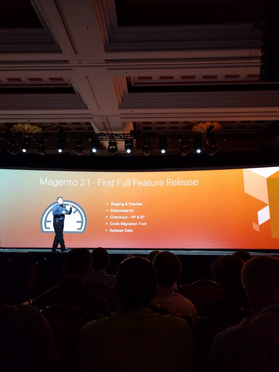 crduffy: Magento 2.1 release....   In June #MagentoImagine https://t.co/Z2PPdRAgku
