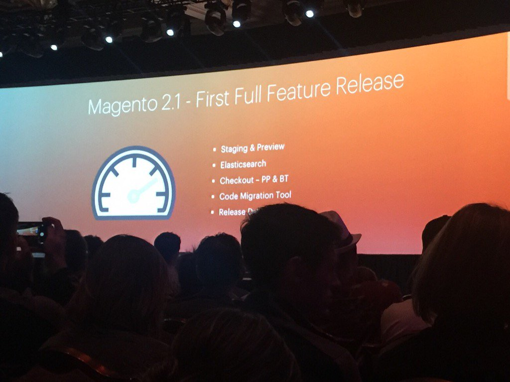 dotmailer: It's here - Magento 2.1. #MagentoImagine https://t.co/g6u9uyE4VI