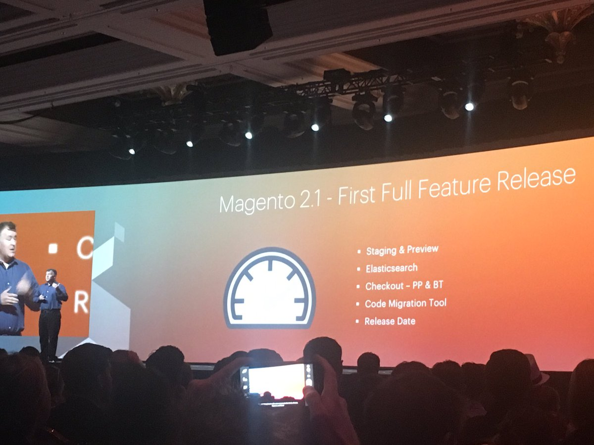 ShipperHQ: .@ProductPaul announces first Full Feature release of #Magento2 June 2016. #MagentoImagine https://t.co/rfpXxwgj7V