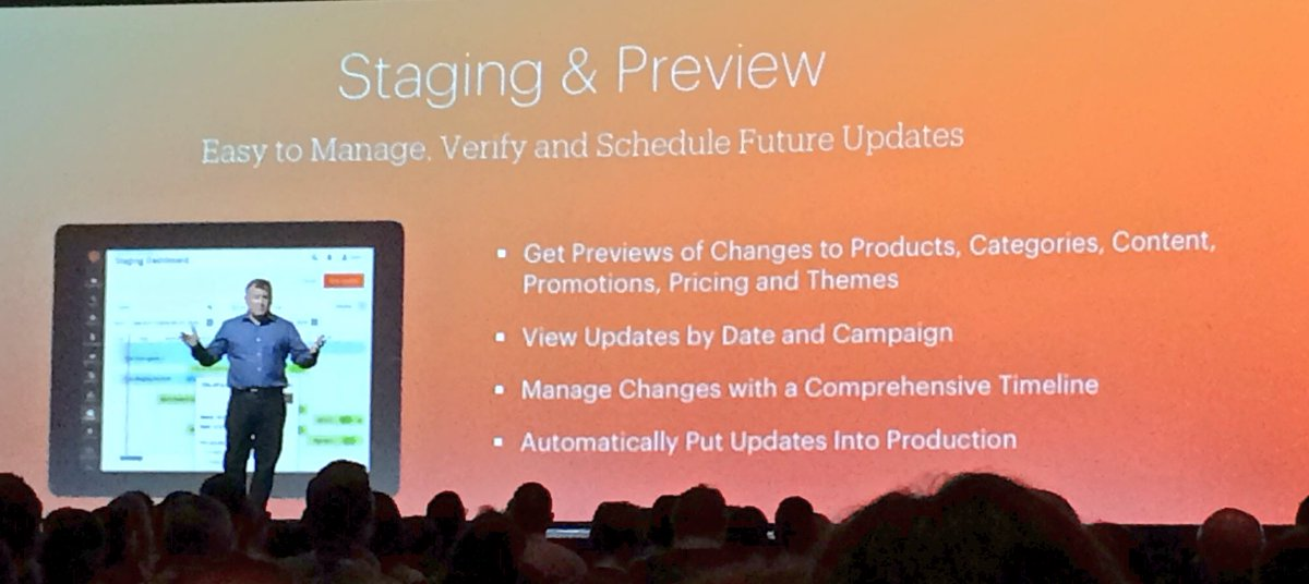 benjaminrobie: Magento 2.1: Staging #MagentoImagine https://t.co/Tm8ZwZobB5
