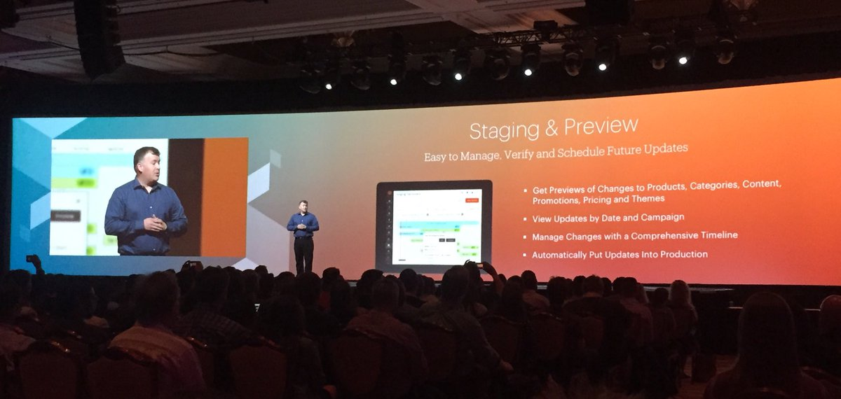 annhud: Get ready for Staging and Preview in Magento 2.1 in June!  #MagentoImagine https://t.co/G4K5E3Ji9v