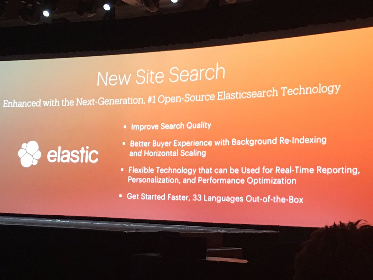 phoenix_medien: #Magento 2.1 feature. Elasticsearch. Guess we helped with that a bit 😉 #MagentoImagine https://t.co/DQq6bHaYDN