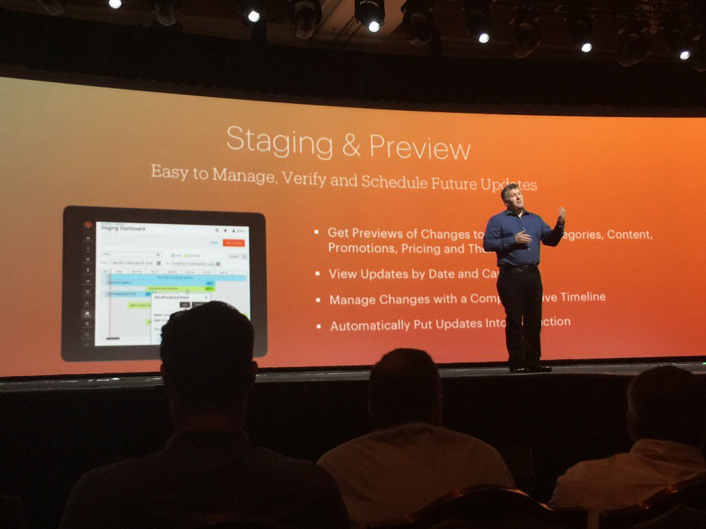 Blue_Bovine: #MagentoImagine @ProductPaul dropping staging for 2.1 ; catnip for marketers! https://t.co/orzQHZZvP3