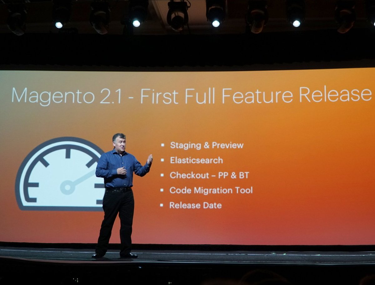 wejobes: Magento 2.1, the first feature release for Magento 2, cones out in June. #MagentoImagine https://t.co/QNodDVQhXB