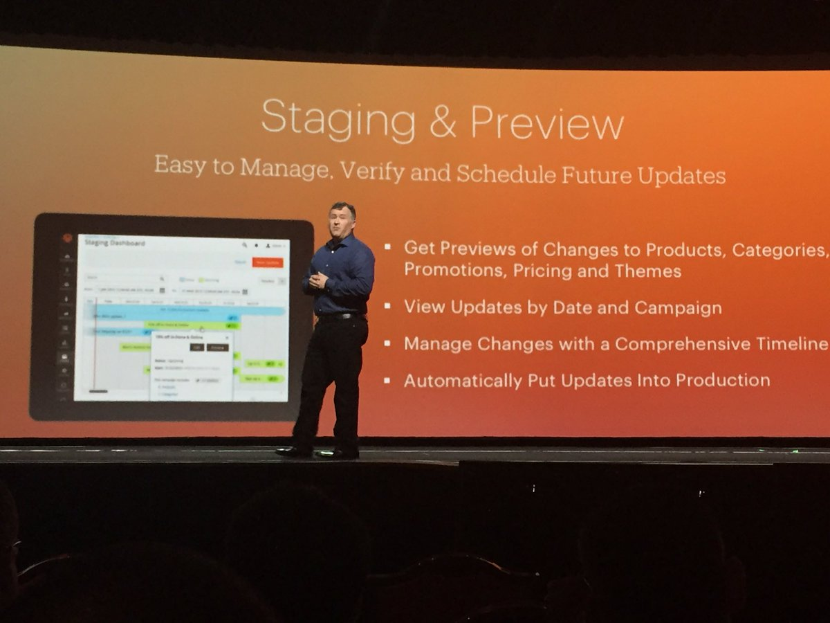 D_n_D: #Magento 2.1 key features : Staging & Preview, New search,     In-Context Checkout... #MagentoImagine https://t.co/RighCtkaTv