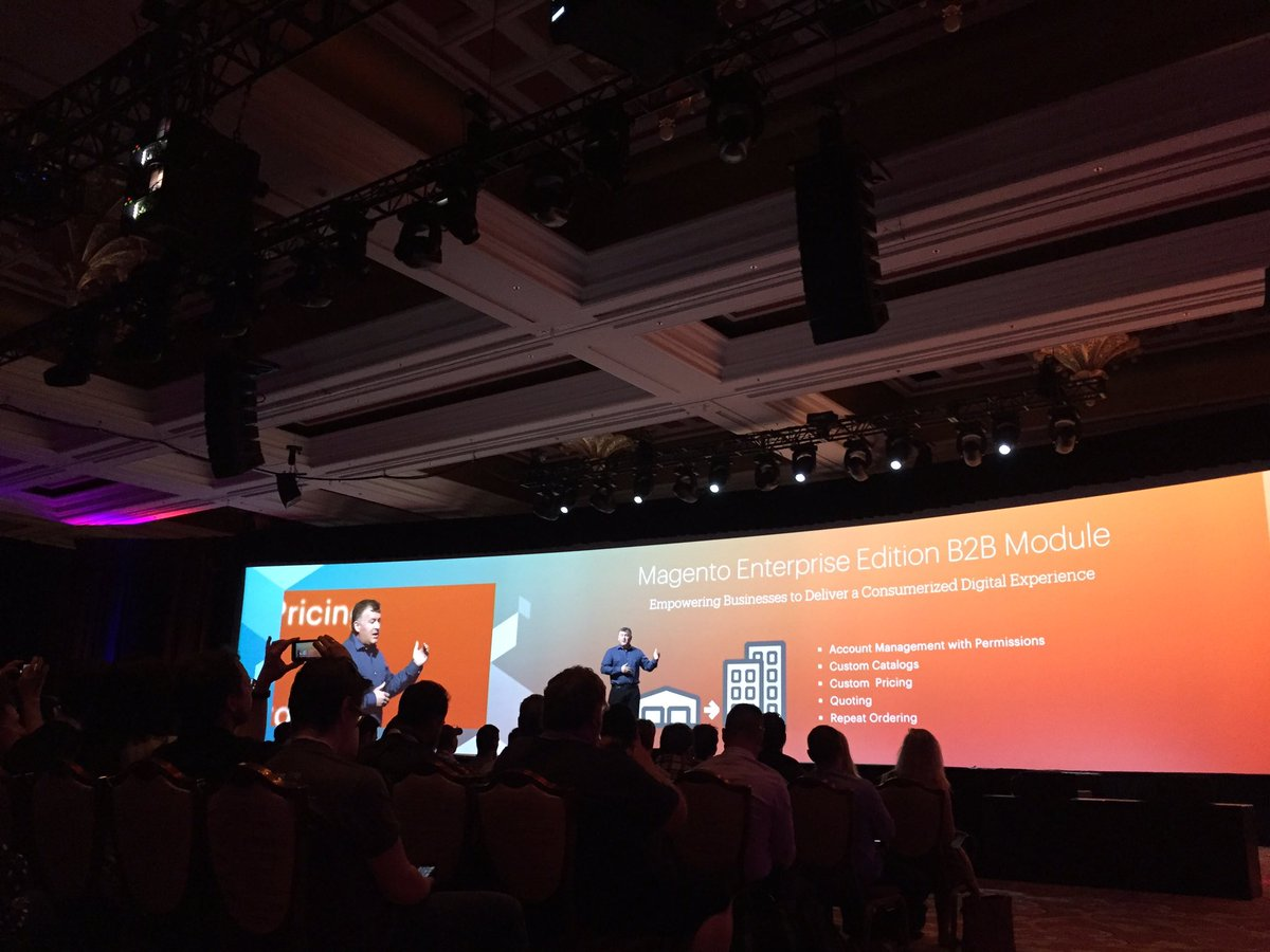 sherrierohde: Part of the #Magento 2016 roadmap? Magento Enterprise Edition B2B Module in Q3! #MagentoImagine https://t.co/8zPXUsHk8v