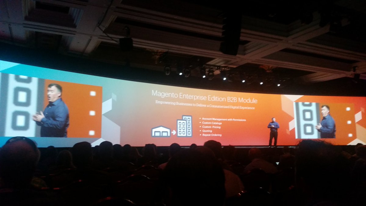 helenelefebvre: B2b module on the roadmap, expected in Q3 #MagentoImagine https://t.co/i7zUQPbfil