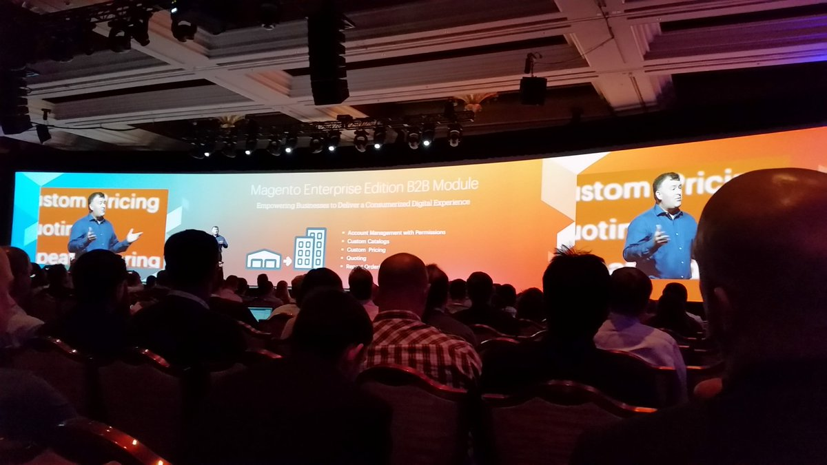 tig_nl: Integrated in Magento 2 EE.. a B2B module in Q3 #ImagineCommerce #Imagine2016 https://t.co/X2ADXl7LHE