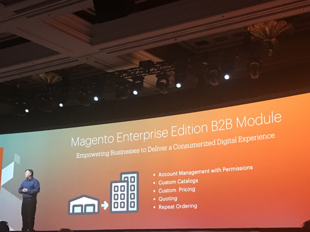 DCKAP: @magento  B2B EE edition modules will be available in q3 this year. Thanks @ProductPaul  #MagentoImagine https://t.co/oCBmpjPGC9