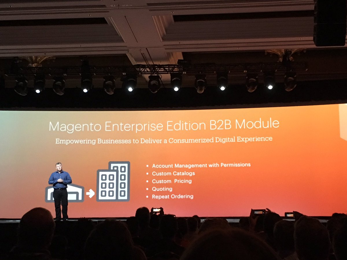 alexanderdamm: Magento will release a powerful B2B Module in Q3 2016 #MagentoImagine https://t.co/64Jk3P5NuG