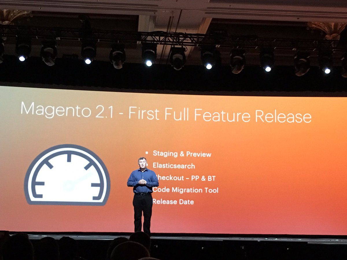 pinofilice: Giugno 2016 disponibile Magento 2.1 #MagentoImagine 2016 https://t.co/nN95GsmTEp