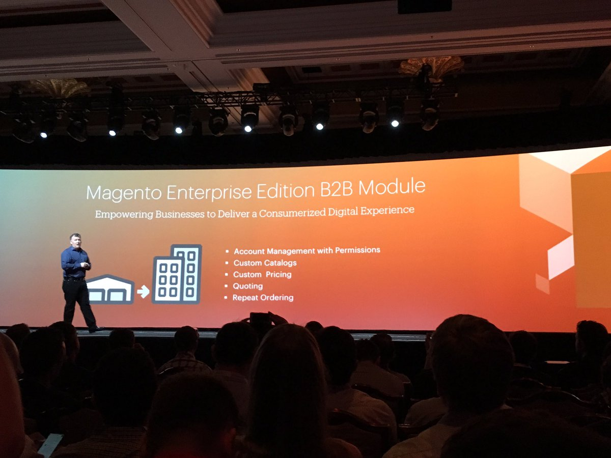 kab8609: A lot of new Magento features coming in Q3 #MagentoImagine https://t.co/mrIl3Gyn0P