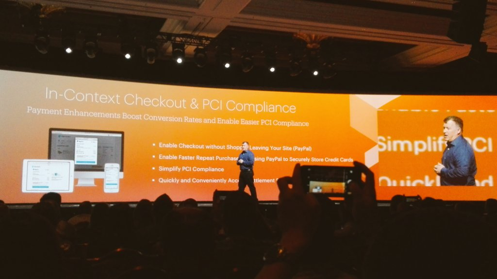 rojo_angel: Announcing @magento 2.1 Good news around payments: it provides In-Context Checkout & PCI Compliance #MagentoImagine https://t.co/qaHZRWjMZl