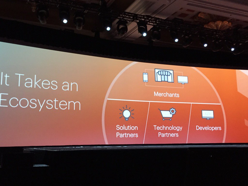lesliehand: It takes an ecosystem from @magento #MagentoImagine information + fun = customer focus = many smiling faces https://t.co/yJ4DBUYWsu