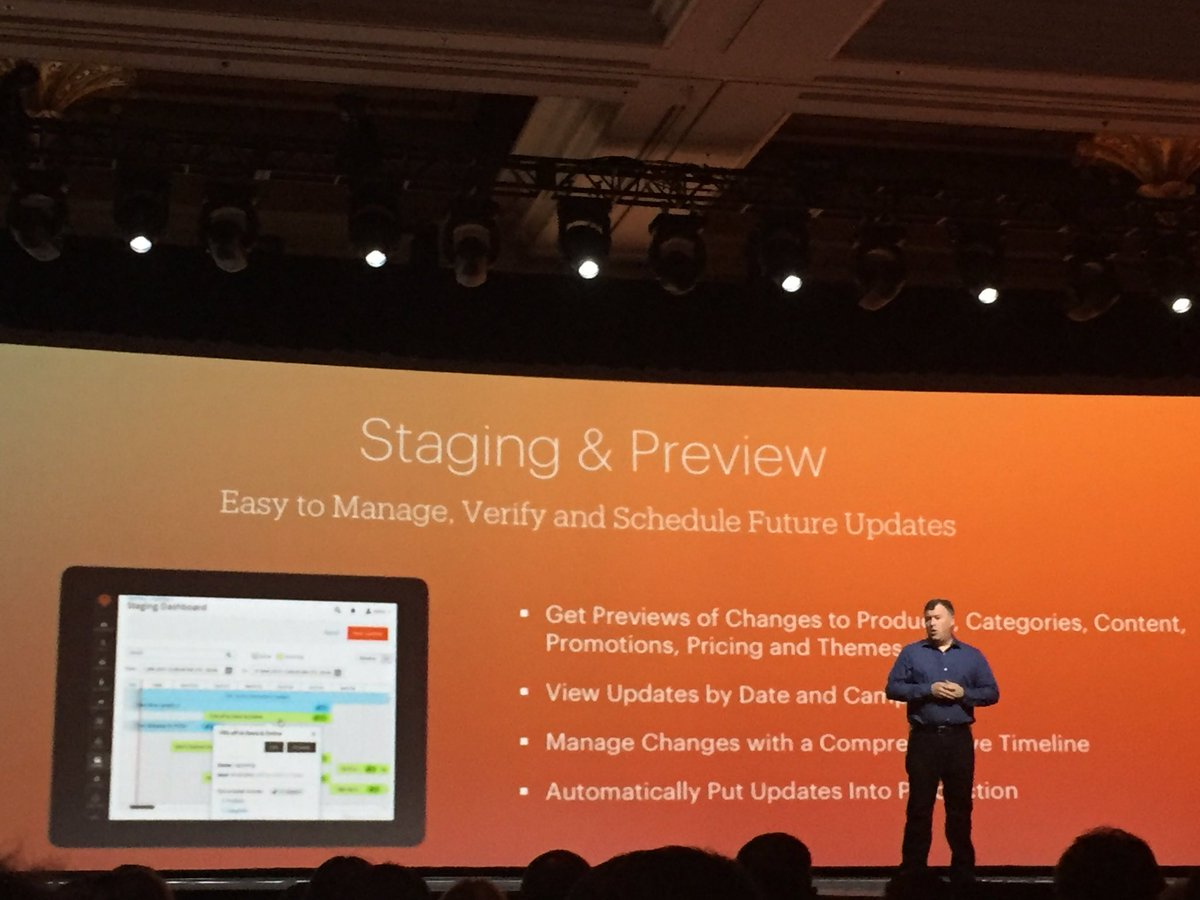plumrocket: #magento 2.1 new features: staging&preview, new site search & in-context checkout #MagentoImagine https://t.co/9h5q8qQ2pR
