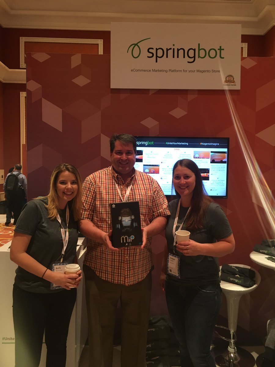 springbot: One of our customers Brian of @Natures_One won a robot giveaway! Congrats, & thanks for stopping by! #MagentoImagine https://t.co/xP9vnGFAvD