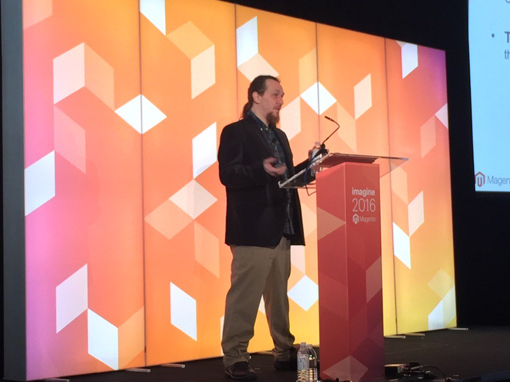 Blue_Bovine: #MagentoImagine Mathew In Margaux 1 talking about Dev Ops https://t.co/mzw7EKpEAC