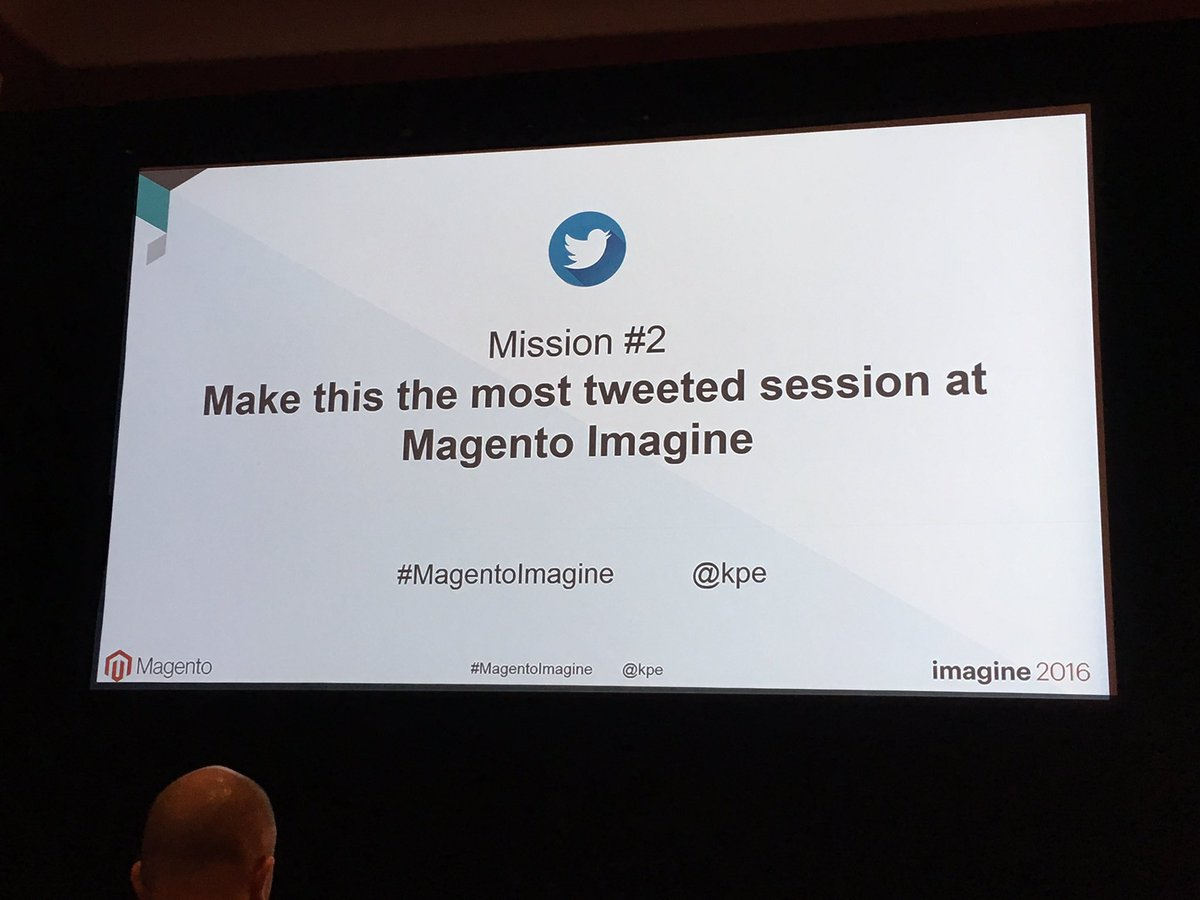 NeilBoughton: Helping the cause! @kpe #MagentoImagine https://t.co/D5SfANIrLt