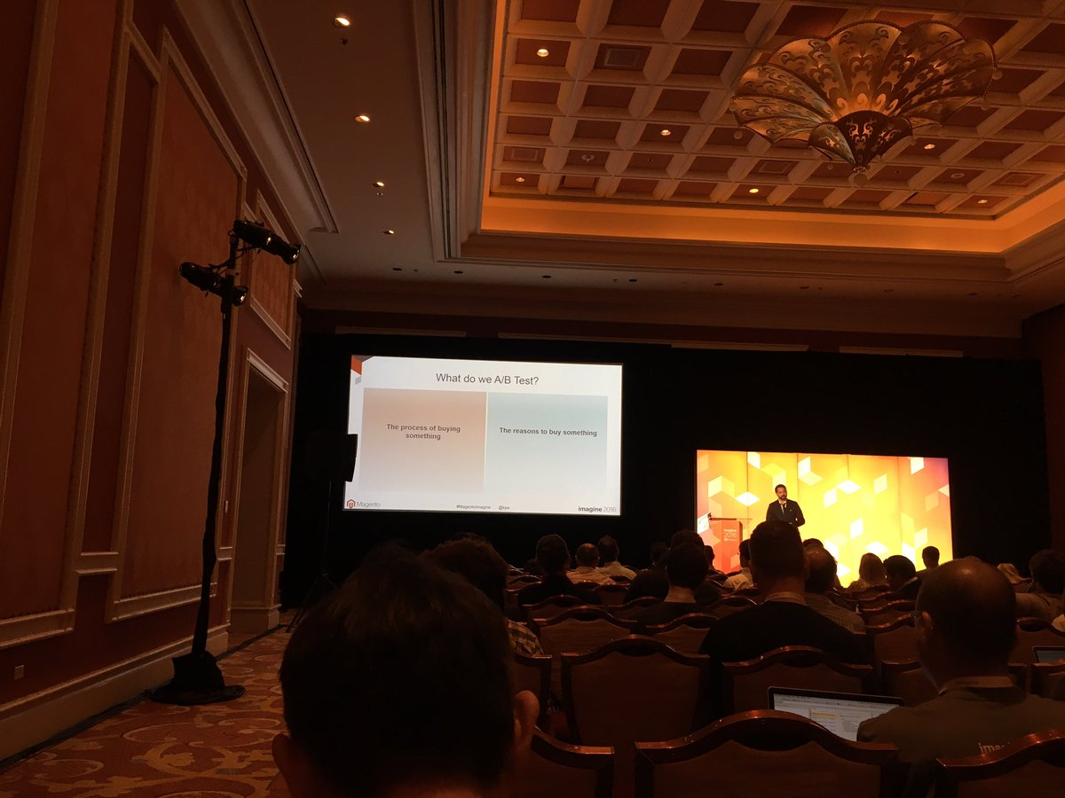 xavigs85: #MagentoImagine in the A/B testing session https://t.co/IJQ8Ckfe5C
