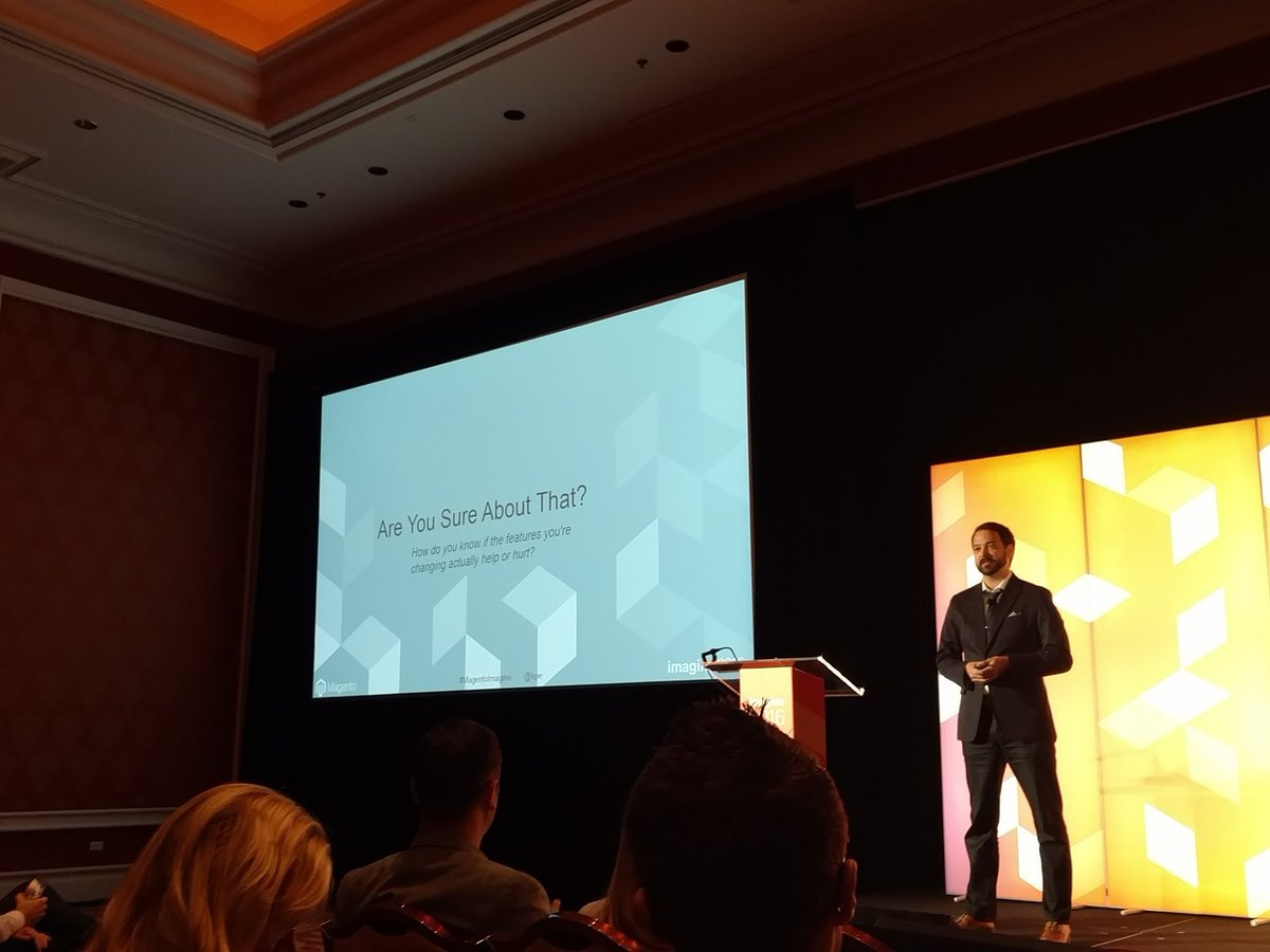 therealbetsey: My fav, customer research. What you want! #MagentoImagine https://t.co/n8E5DngqOq