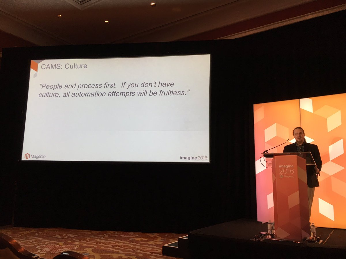 VinaiKopp: 'If you don't have culture, all automation attempts will fail.' #MagentoImagine https://t.co/cWpSaGqRP3