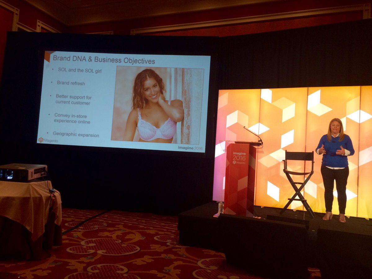 guidance: SOL: our customers are very loyal & avid fans of our brand #MagentoImagine #Magento2 @magento https://t.co/7lUmN2wpZY
