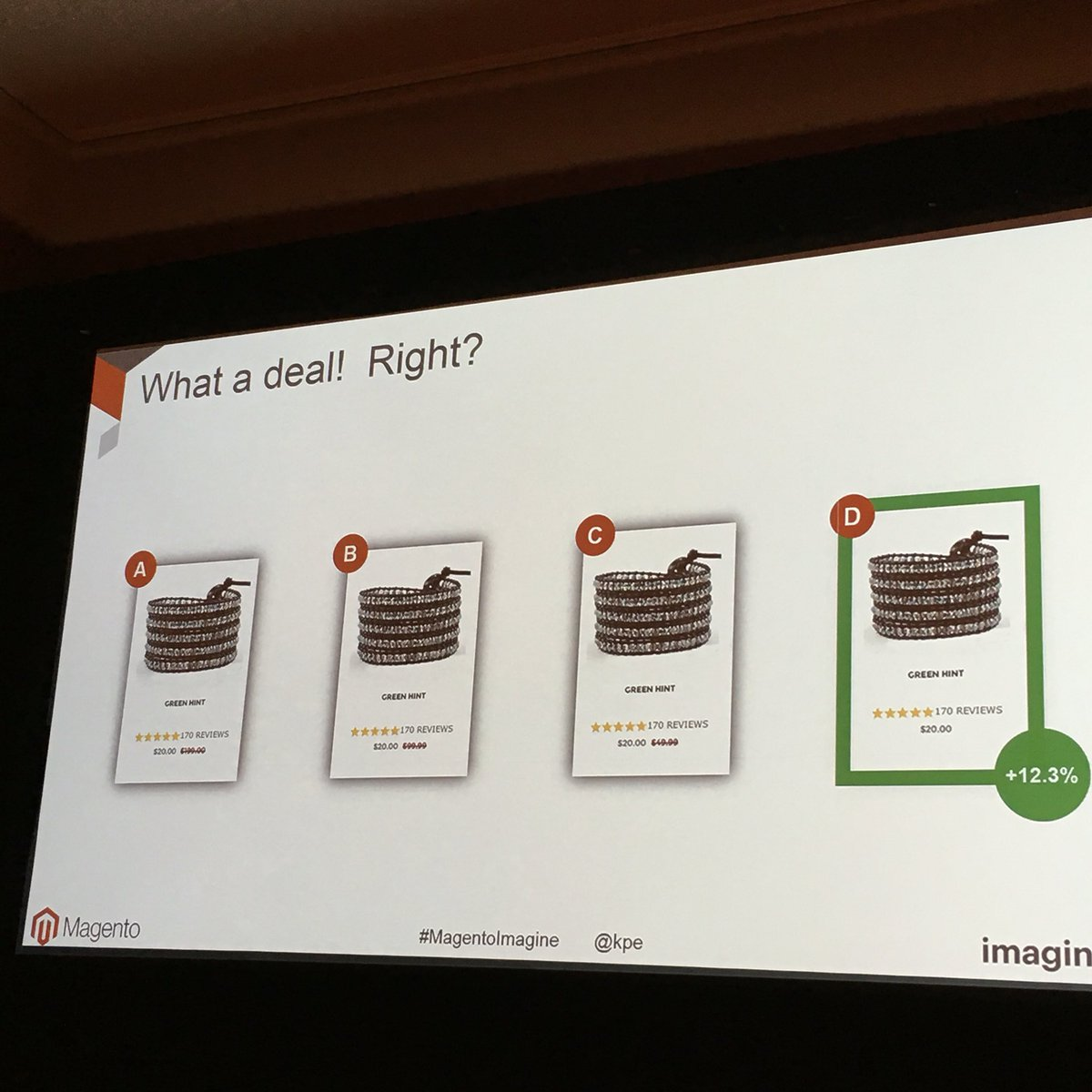 garymediaspa: Per Blue Acorn, No MSRP wins this a/b test...#MagentoImagine @kpe https://t.co/KmO569wTvF