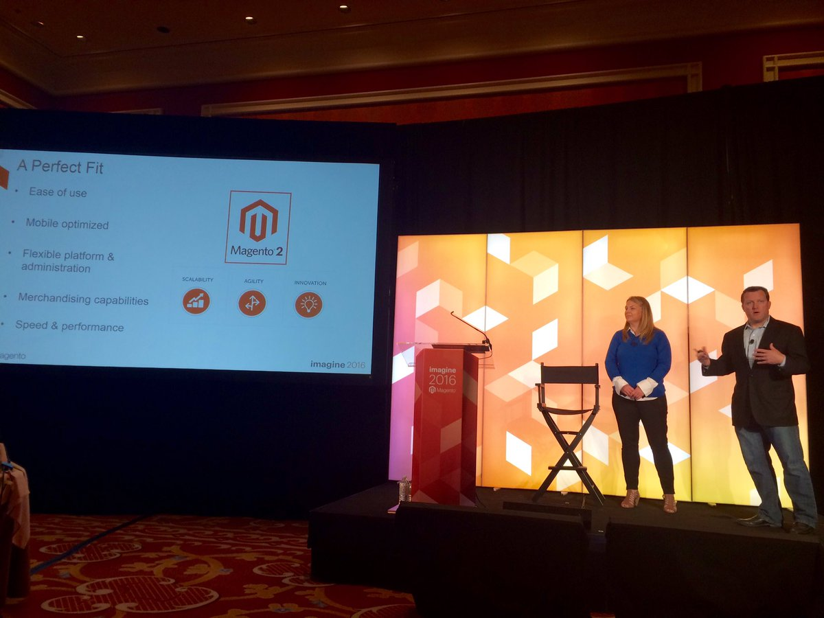 guidance: Beck: #Magento2 is built more for scale, integration & speed #MagentoImagine @magento https://t.co/3VcEvlpSVz