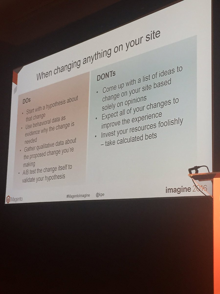 gelizabeths: The dos and don'ts of making changes on your site #ecommerce #MagentoImagine #datafy #results @kpe https://t.co/IUP42zOPV9