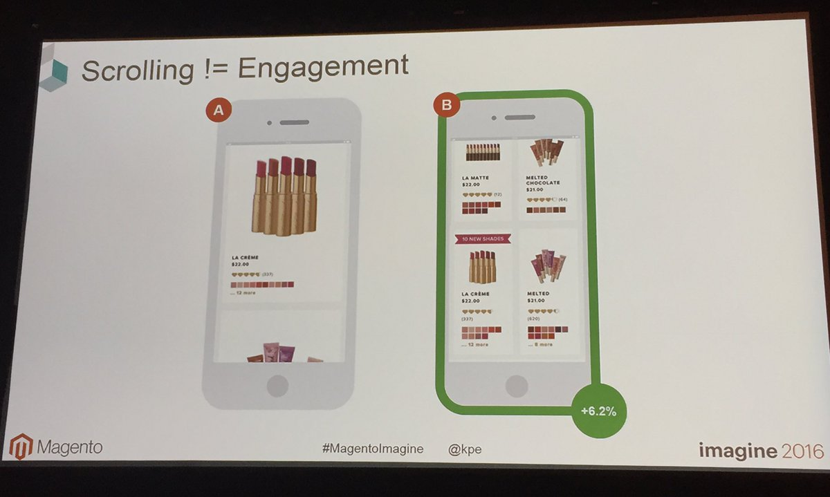 annhud: The less scrolling on #mobile the better #abtest #MagentoImagine https://t.co/RYJf42Fh3Q