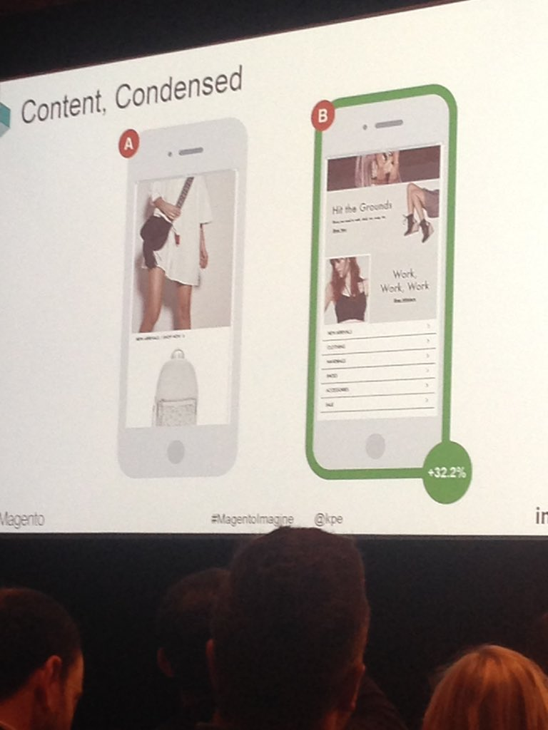 alliburg: This mobile homepage design, don't make me think & don't make me scroll 😍 @kpe #MagentoImagine https://t.co/5XH8sLlkba